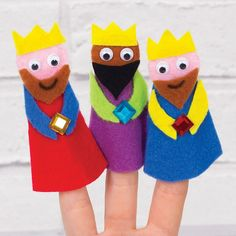 Three Wise Men Finger Puppets   Free Craft Ideas   Baker Ross