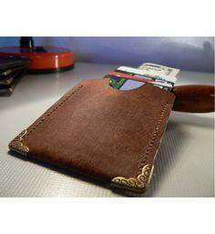 Leather Slim Wallet , Mens Wallet