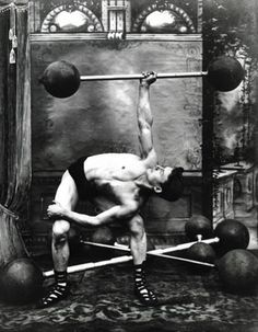 Weightlifter with barbell from 1907 Keep fit Britain showcase | The National Archives