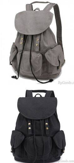1097c3ca23 Do you like this Leisure Three Pockets High School Bag Student Travel  Canvas Backpack !