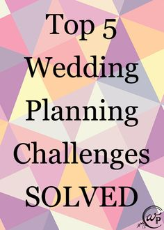 Solve your biggest wedding planning challenges with the advice in this article.