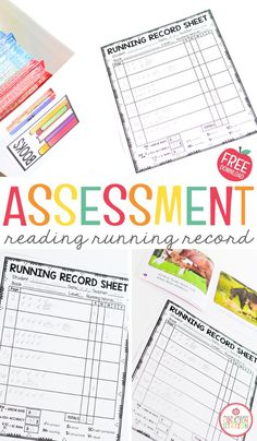 With this FREE reading assessment, you can hold reading running records with your pre-k, kindergarten and first greade readers at any time of the year. Use leveled readers for the most accurate results. #assessment #runningrecords #prek #kindergarten #reading