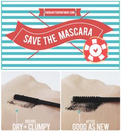 Mascara life is around 3 months, so what do you do if yours dried out after only a month? Don't toss it! Bring it back to life, of course! Click through to see the step-by-step tutorial and before & after lashes shot!