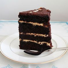 Strawberry Chocolate Concoction: It's Birthday Season: Chocolate Peanut Butter Layer Cake!