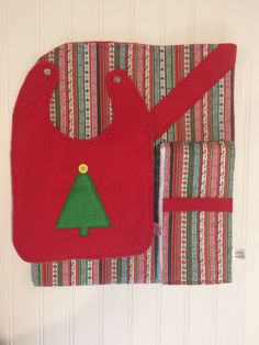 SOLD. Christmas Bib  Christmas Burp Cloth  by OliviaLawsonDesigns.etsy.com.
