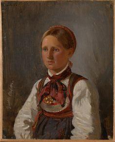 Adolph Tidemand - Portrait of Gunild Olsdatter from Tinn. 1848. jpg (833×1024)