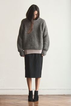 Grey wool pullover by GREY COMMA