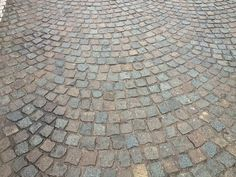 Reclaimed Cobblestones In Fan Shaped Pattern. I Love The Old Stones. See  More On