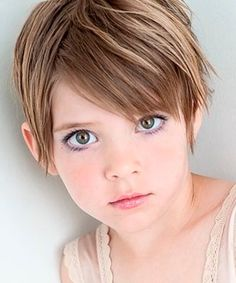Pixie short hairstyle for little girls