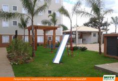 Playground do Parque Alentejo. Condomínio fechado de apartamentos no Bairro Jardim Residencial Lupo II, em Araraquara/SP.
