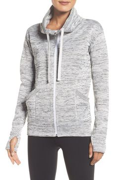 Zella Zella 'Cozy to the Core' Sweater Jacket available at #Nordstrom in large