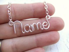 Personalized Necklace Any Word or Name Up to 8 Letters, | Tophatter
