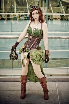 Steampunk Poison Ivy Cosplay by Mac from DC Steampunk Cosplay