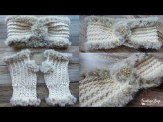 Elegant Faux Fur Headband - YouTube Crochet Stitches, Knit Crochet, Faux Fur Headband, Front Post Double Crochet, Crochet Crafts, Single Crochet, Arm Warmers, Etsy Shop, Elegant