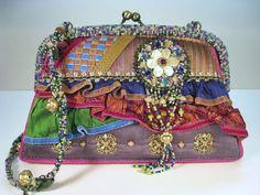 Retired Vintage Mary Frances Shoulder Handbag Purse #MaryFrances #ShoulderBag Mary Frances Purses, Mary Frances Handbags, Shoulder Handbags, Shoulder Bag, Pocket Books, Embroidered Bag, Purses And Handbags, Bag Making, Hand Bags