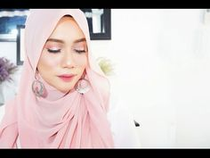 Simple Hijab tutorial with Earrings - YouTube