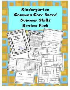I created this packet to send home with my kinders this summer in order to keep their math and literacy skills sharp!  It includes one Common...