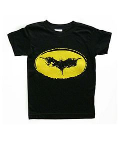 This Black & Yellow Bat Tee - Infant, Toddler & Kids is perfect! #zulilyfinds