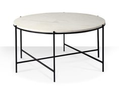 The Athena coffee table in marble and iron. A simple and elegant design, the Athena flaunts gorgeous textures for a contemporary coffee table with a hint of luxury. Stylish Coffee Table, Round Coffee Table, Contemporary Coffee Table, Contemporary Style, Monochrome Interior, Reception Rooms, Table Desk, Home Decor Inspiration, Living Spaces