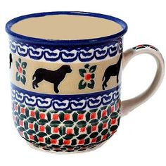 Polish Pottery Dog Coffee Mug <3