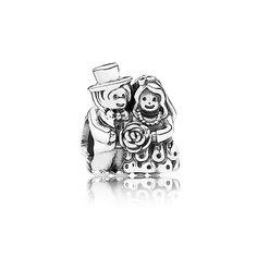 PANDORA | Zilveren charm - bruidspaar