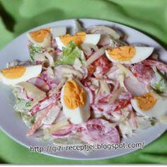 tavaszi saláta Potato Salad, Bacon, Paleo, Food And Drink, Potatoes, Yummy Food, Healthy Recipes, Ethnic Recipes, Diet