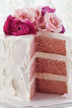 Pink Velvet Cake with Vanilla Swiss Meringue Buttercream Dieser rosa Samtkuchen mit Vanille-Ba Cake Pink, Pink Velvet Cakes, Birthday Cake Flavors, Wedding Cake Flavors, Cake Birthday, Birthday Nails, 50th Birthday, Birthday Ideas, Swiss Meringue Buttercream