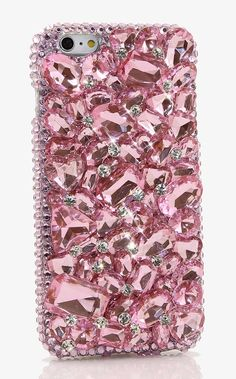 Bling Crystals Phone Case for iPhone 6, iPhone 6 PLUS - Pink stones design