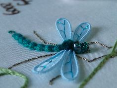 Ring Cushion - Dragonfly  (Stumpwork/Embroidery) by jude_essex