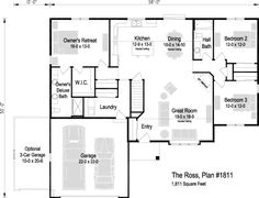 Build Your New Home in Wisconsin Square Feet, Great Rooms, Ranch, House Plans, New Homes, Floor Plans, Flooring, How To Plan, Bedroom