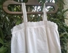 Victorian Lacy White Dress Monogrammed French by SophieLadyDeParis