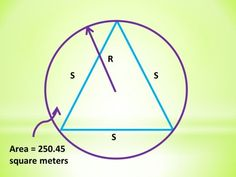 Circle Circumscribing an Equilateral Triangle: Calculator Techniques for Circles and Triangles in Plane Geometry Engineering Boards, Geometry Questions, Differential Calculus, Plane Geometry, Area Of A Circle, Pythagorean Theorem, Trigonometry