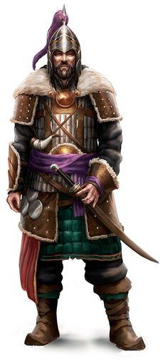m Fighter Asian Faction Guard Scale Helm Sword Bran Deriel, conestabile di Cyrille. Ha avuto un passato da rinomato cacciatore; ora è diventato un freddo burocrate che si limita a emanare ordini di cattura dal suo ufficio saturo di trofei di caccia.