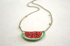 finished seed bead necklace