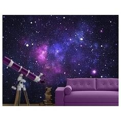 Sun moon stars wall decals outer space wall murals for Outer space wallpaper for bedroom