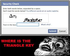 Where is the triangle key?