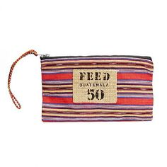 Perfectly pocket-sized, the FEED Guatemala Pouch still works as a simple clutch for those on-the-go moments.