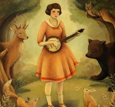 Banjo Recital Print 8x10 by Emily Winfield Martin by theblackapple
