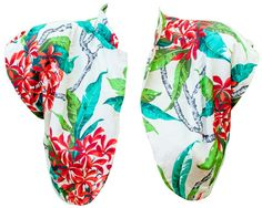 1940s Hawaiian Grey Silk Floral Cover Up Bolero by TopangaHiddenT