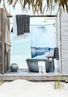 Lifestyle outdoor living outdoor baths, outdoor bathrooms, o Outdoor Baths, Outdoor Bathrooms, Outdoor Showers, Indoor Outdoor, Outside Living, Outdoor Living, Outdoor Spaces, Outdoor Decor, H&m Home