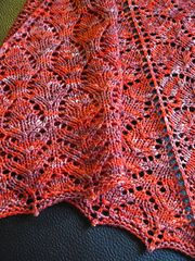 Wilhelmina Shawlette, pattern by Chrissy Gardiner.  What Would Madame Defarge Knit? by Heather Ordover, Editor. cooperativepress.com