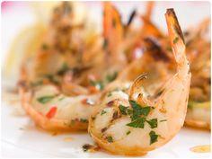 BBQ Jumbo Shrimp with Olive Oil, Lemon Juice and Fresh Parsley