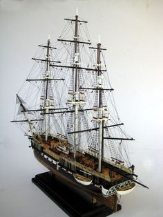 Incredible model ships ... the patience to rig one of these is crazy, I can attest from my own attempts ...