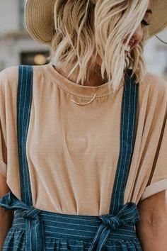 Velvet Shirt + Overall Skirt | ROOLEE