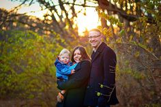 Family session in the golden hour in winter, photo by Joanna Smith, Chicago area photographer http://www.joannasmithphotography.com