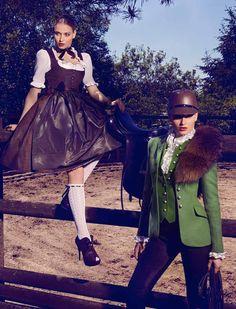 www.pegasebuzz.com | Erika Palkovicova by Sacha Hochstetter for Vogue Germany, september 2013