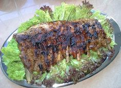 Grilled Pork Ribs     Ingredient : salt, brown sugar, paprika, coarsely ground black pepper, minced garlic, dried parsley  olive oil (marinated overnight, ideal for BBQ or Oven bake). Pork Ribs Grilled, Ground Black Pepper, Oven Baked, Grilling Recipes, Parsley, Brown Sugar, Olive Oil, Garlic, Bbq