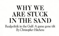 Why We Are Stuck in the Sand Harper's Magazine, Documentary Photography, The Republic, Stand By Me, Looking Back, Documentaries, January, Stay With Me, Friendship
