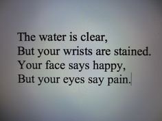 Depression and self harm poem.
