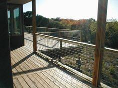 Hog panel railing- love this! Super cheap and pretty.
